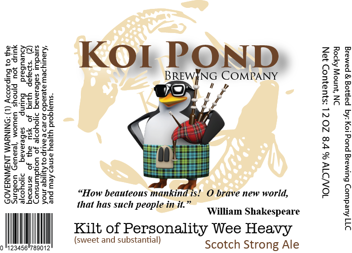 Kilt of Personality Wee Heavy Ale